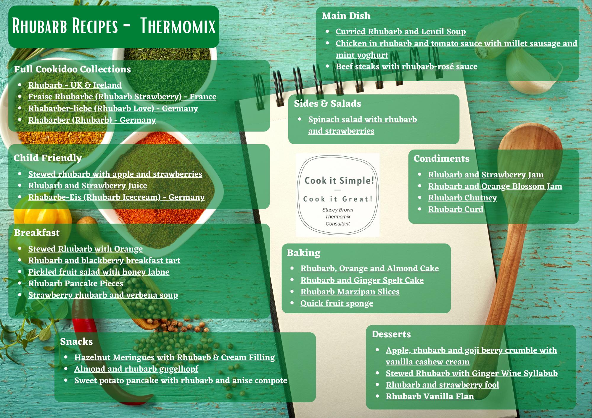 Rhubarb Recipes on Cookidoo