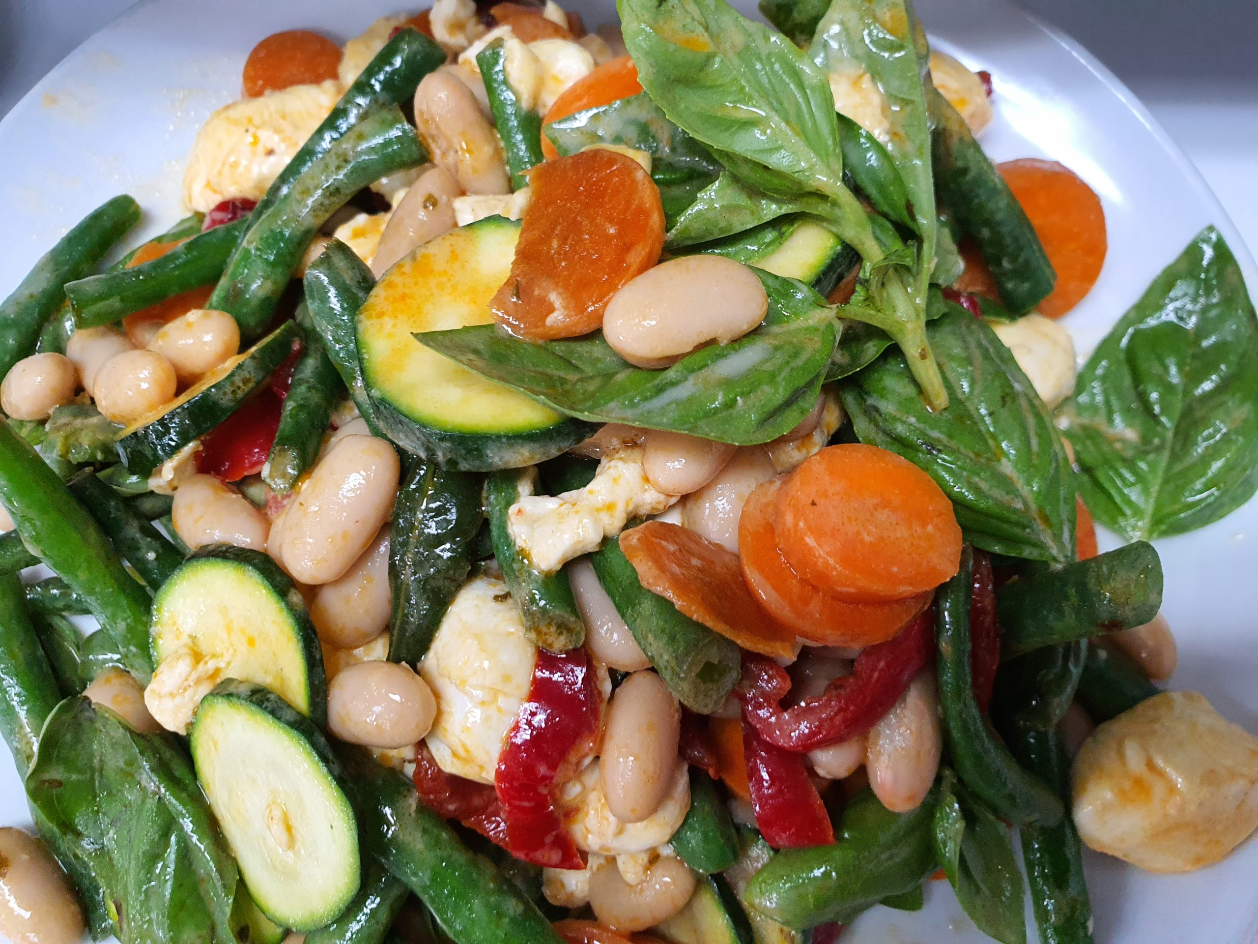 Mustard Bean Salad with Baby Bocconcini